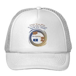 New Hampshire Tax Day Tea Party Protest Mesh Hat
