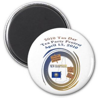 New Hampshire Tax Day Tea Party Protest Magnet