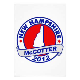New Hampshire Thad McCotter Announcements