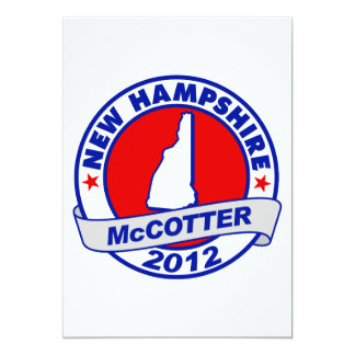 "New Hampshire Thad McCotter Invitación 5"" X 7"""