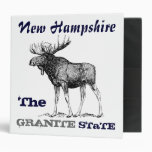 New Hampshire(The Granite Moose)STaTE Vinyl Binders