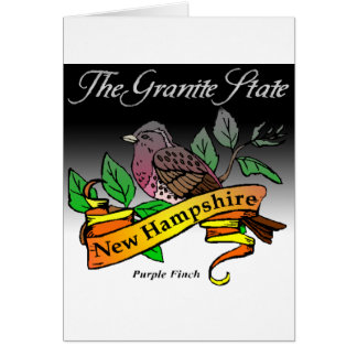 New Hampshire The Granite State w/ Bird Card