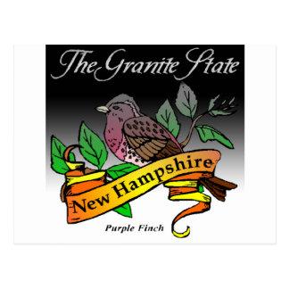 New Hampshire The Granite State w/ Bird Postcard