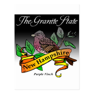 New Hampshire The granite State With Bird Postcard