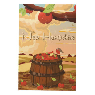 New Hampshire travel poster Wood Wall Art
