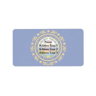 New Hampshire, United States Address Label