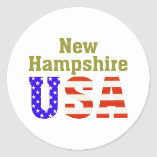 New Hampshire USA! Classic Round Sticker
