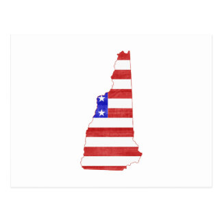 New Hampshire USA flag silhouette state map Postcard