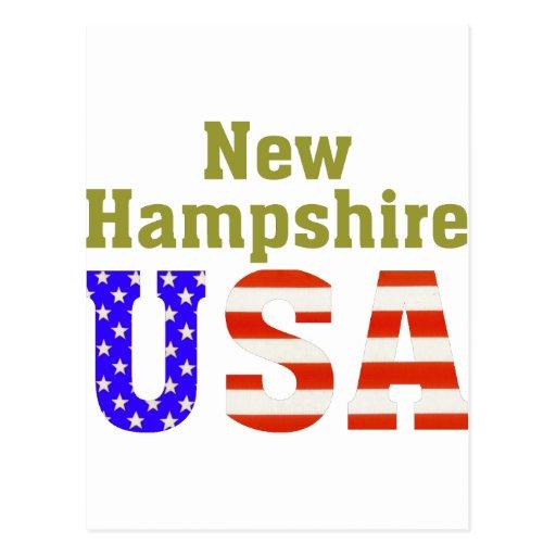 New Hampshire USA! Postcard