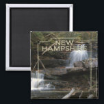 """New Hampshire USA State Souvenir Fridge Magnet<br><div class=""""desc"""">Tip: dated travel magnets are a great way to chronicle your travels and Zazzle makes it easy to add a date.</div>"""