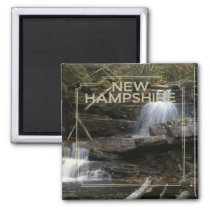 New Hampshire USA State Souvenir Fridge Magnet