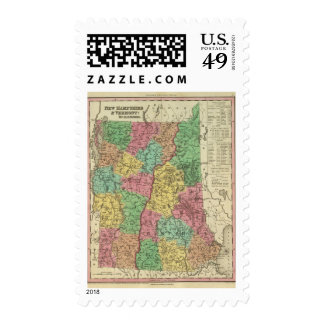 New Hampshire & Vermont 2 Stamps