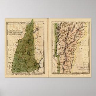 New Hampshire Vermont 3 Impresiones