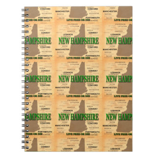 New Hampshire Vintage Map Notebook