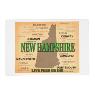 New Hampshire Vintage Map Placemat