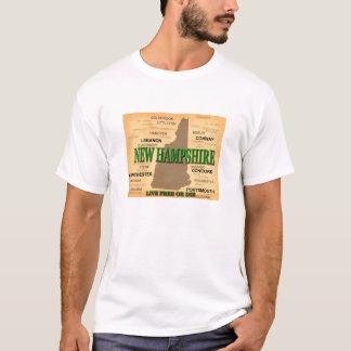 New Hampshire Vintage Map T-Shirt