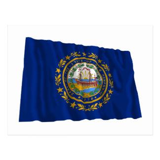New Hampshire Waving Flag Postcard