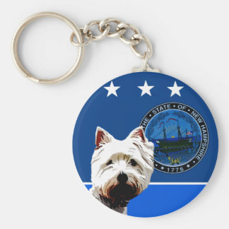 New Hampshire West Highland White Terrier Keychain
