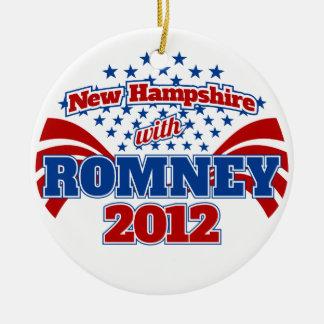 New Hampshire with Romney 2012 Ceramic Ornament