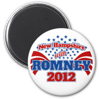 New Hampshire with Romney 2012 Magnet