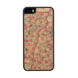 New Hampshire y Vermont 2 Funda De Arce Carved® Para iPhone 5