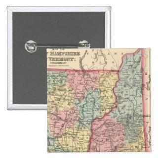New Hampshire y Vermont 3 Pin Cuadrada 5 Cm