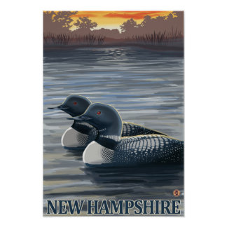 New HampshireCommon Loon Poster