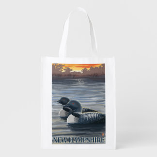 New HampshireCommon Loon Reusable Grocery Bag
