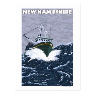 New HampshireCrab Fishing Boat Scene Postcard