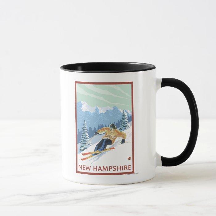 New HampshireDownhill Skier Scene Mug