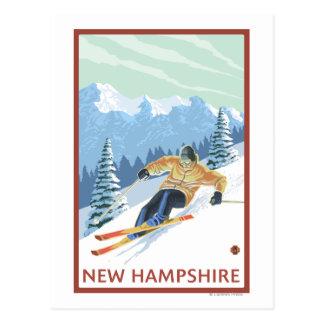 New HampshireDownhill Skier Scene Postcard