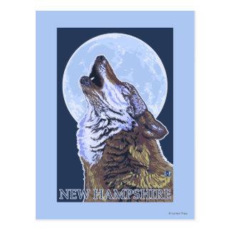 New HampshireHowling Wolf Postcard