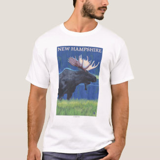 New HampshireMoose in the Moonlight T-Shirt
