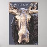 New HampshireMoose Up Close Poster