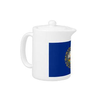 New Hampshire's Flag Teapot