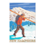 New HampshireSkier Carrying Skis Canvas Prints
