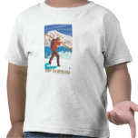 New HampshireSkier Carrying Skis T Shirts