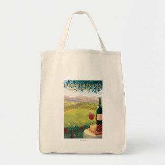 New HampshireWine Country Scene Tote Bag