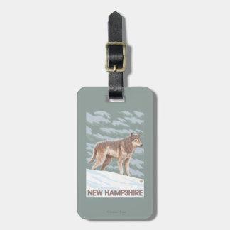 New HampshireWolf Scene Luggage Tag