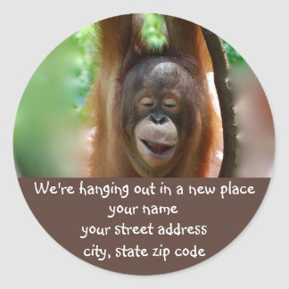 New Hang Out address label