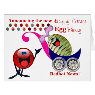 New Happy Easter Egg Bunny Card