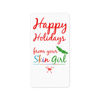 NEW: Happy Holiday Labels - from your SKIN GIRL