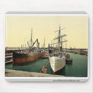 New Harbor and the Lighthouse, Bremerhafen, Hanove Mouse Pad