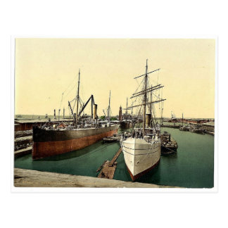 New Harbor and the Lighthouse, Bremerhafen, Hanove Post Cards