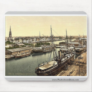 New Harbor from the Lighthouse, Bremerhafen, Hanov Mouse Pad