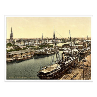 New Harbor from the Lighthouse, Bremerhafen, Hanov Post Cards