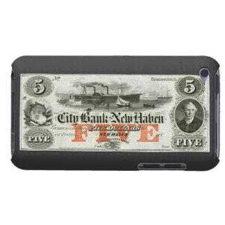 New Haven 1855 nota de cinco dólares Case-Mate iPod Touch Cárcasa