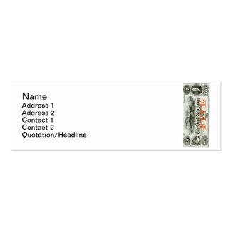 New Haven 1855 nota de cinco dólares Tarjetas De Visita Mini