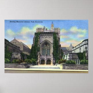 New Haven, biblioteca conmemorativa esterlina de C Póster