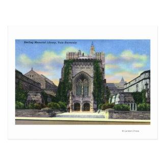 New Haven, biblioteca conmemorativa esterlina de Tarjeta Postal